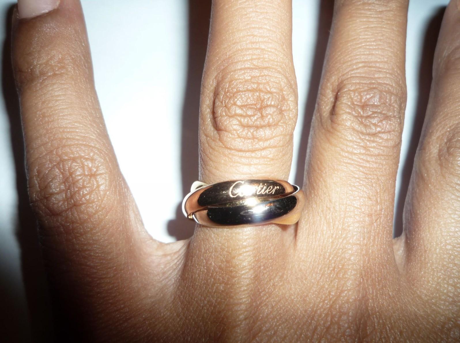 Bague trois anneaux pour homme
